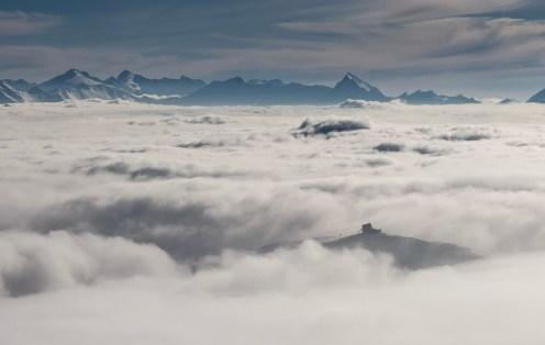 LAAX Crap Masegn über dem Nebel