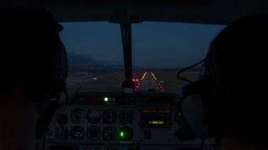 Landeanflug in Grenchen