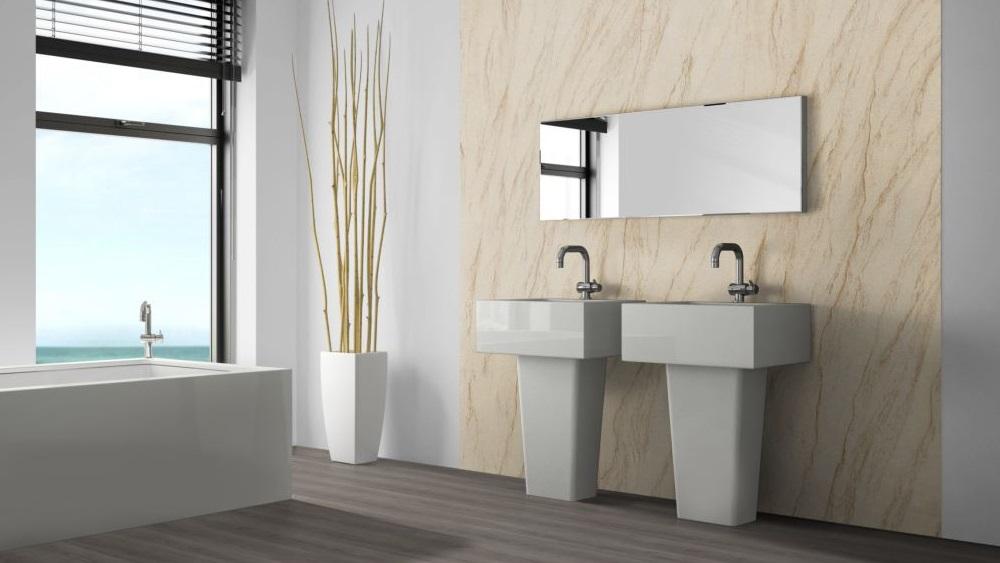 Yellow Peak flexible sandstone wellness bathroom