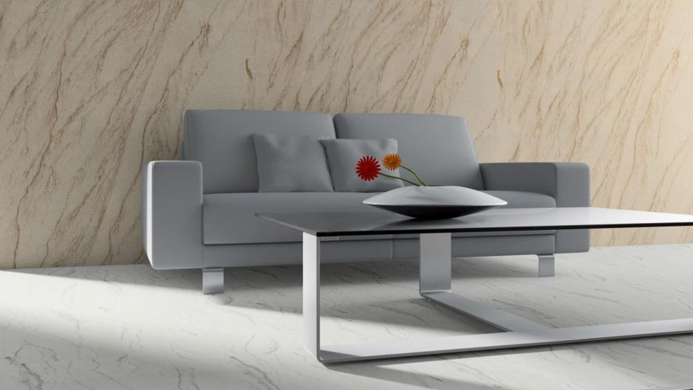 Yellow Peak flexible sandstone couch