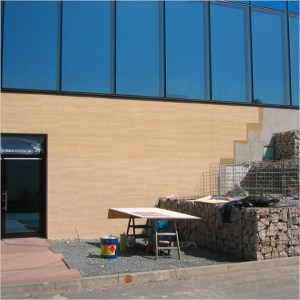 Facade cladding on thermal insulation composite system processing