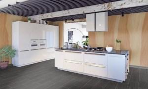 Wandverkleidung aus Sandstein - flexible Sandsteintapete samera 28 in moderner Küche