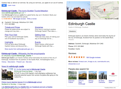 Edinburgh Castle SEO Google My Business