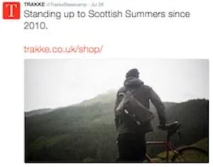 brand awareness example Trakke