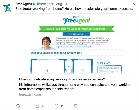 freeagent twitter marketing