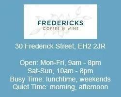 fredericks coffee house work remotely edinburgh