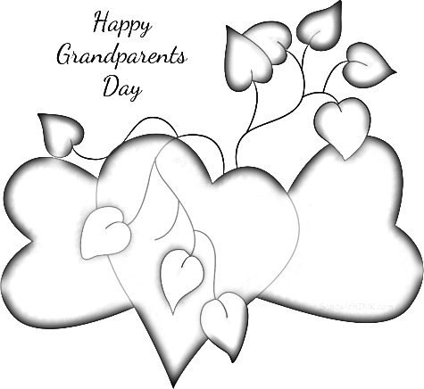 Happy Grandparents Day Wishes and Coloring Pages