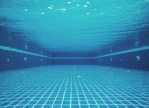Underwater shot of a clean swimming pool