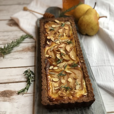 Honey and Cheese Pear Tart
