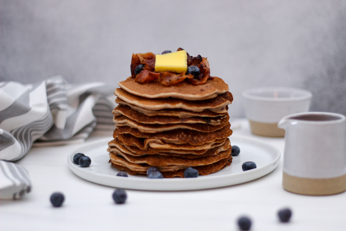 Pancakes by Phoros with Blueberry Compote