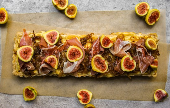 Fig and Cheese Custard Tart