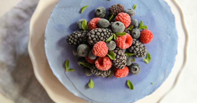Butterfly Pea Cheesecake
