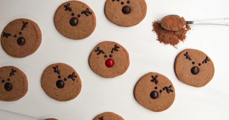 Ovaltine Shortbread Reindeer Cookies