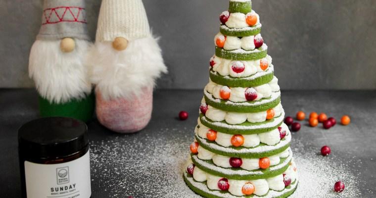 Christmas Matcha Sugar Cookies
