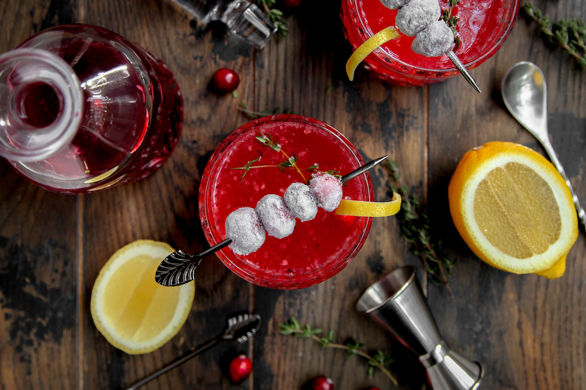 Cranberry Gimlet Cocktail
