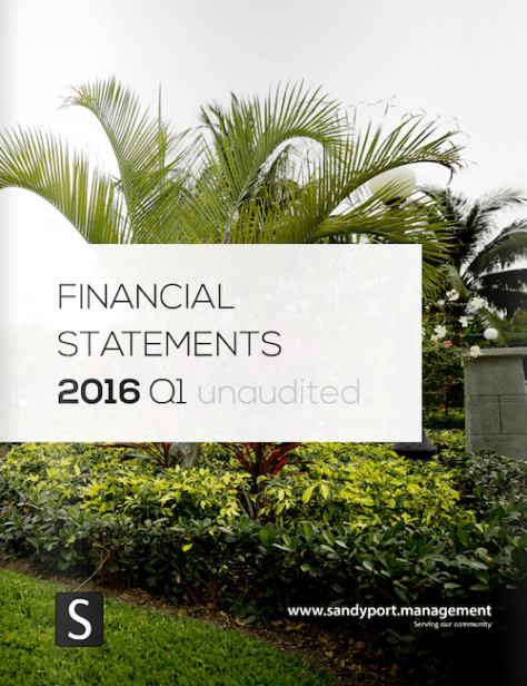 SHAL Financial Statements 2016 Q1