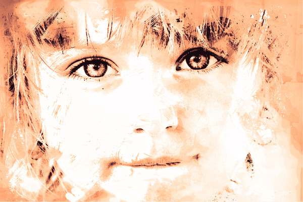 Childs Watercolour Portrait