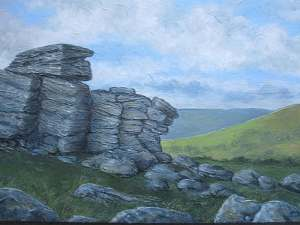 Dartmoor, oil painting on canvas by Sandy Kendall, fine artist