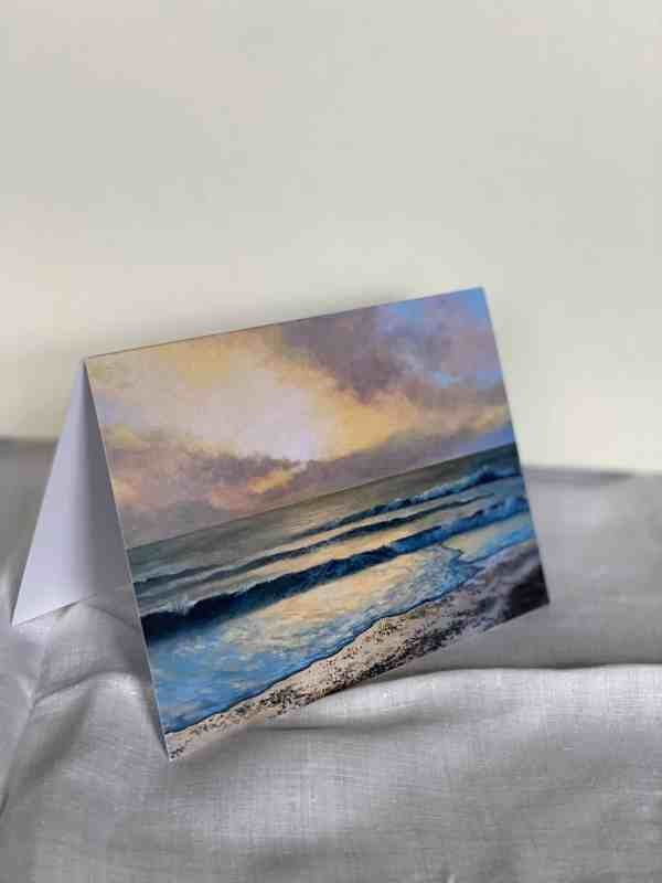 photograph of greetings card open on surface