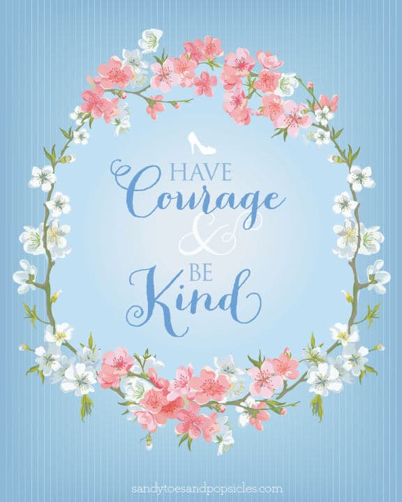 Popsicle Girl Wallpaper Have Courage And Be Kind Cinderella Printable Popsicle Blog
