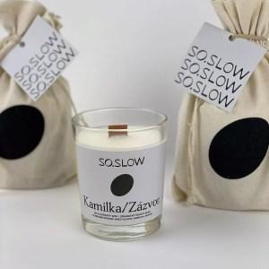 Slovenská sójova sviečka – 004 KAMILKA/ZÁZVOR