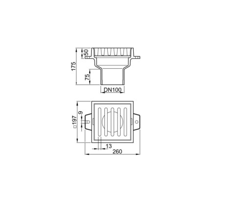 small resolution of aco basement cast iron gulia with vertical outlet dn100 51941000 jpg