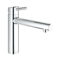Grohe Concetto Kitchen Faucet Island With Sink Mixer By The Window 31210001 Ohm Swivel Spout