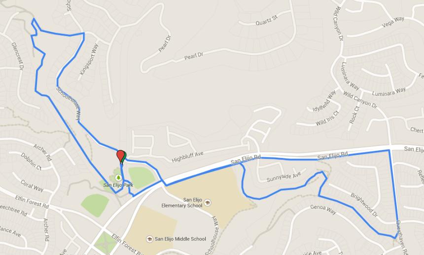 2015 San Elijo 5k Course