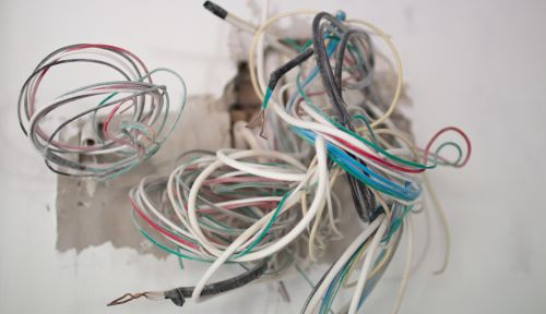 small resolution of a home s wiring uses nm or non metal sheath one popular brand is romex it is a type of plastic insulated wire this wiring is suitable for protected