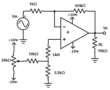 Effect of Variation in Power Supply Voltage on Offset