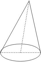 Right Circular Cone Surface Area Questions and Answers
