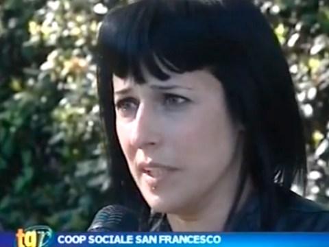 Sabrina Sclafani alle telecamere di Rete Oro