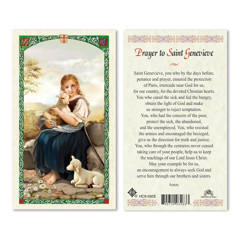 St Genevieve Prayer Card 25pk English San Francis