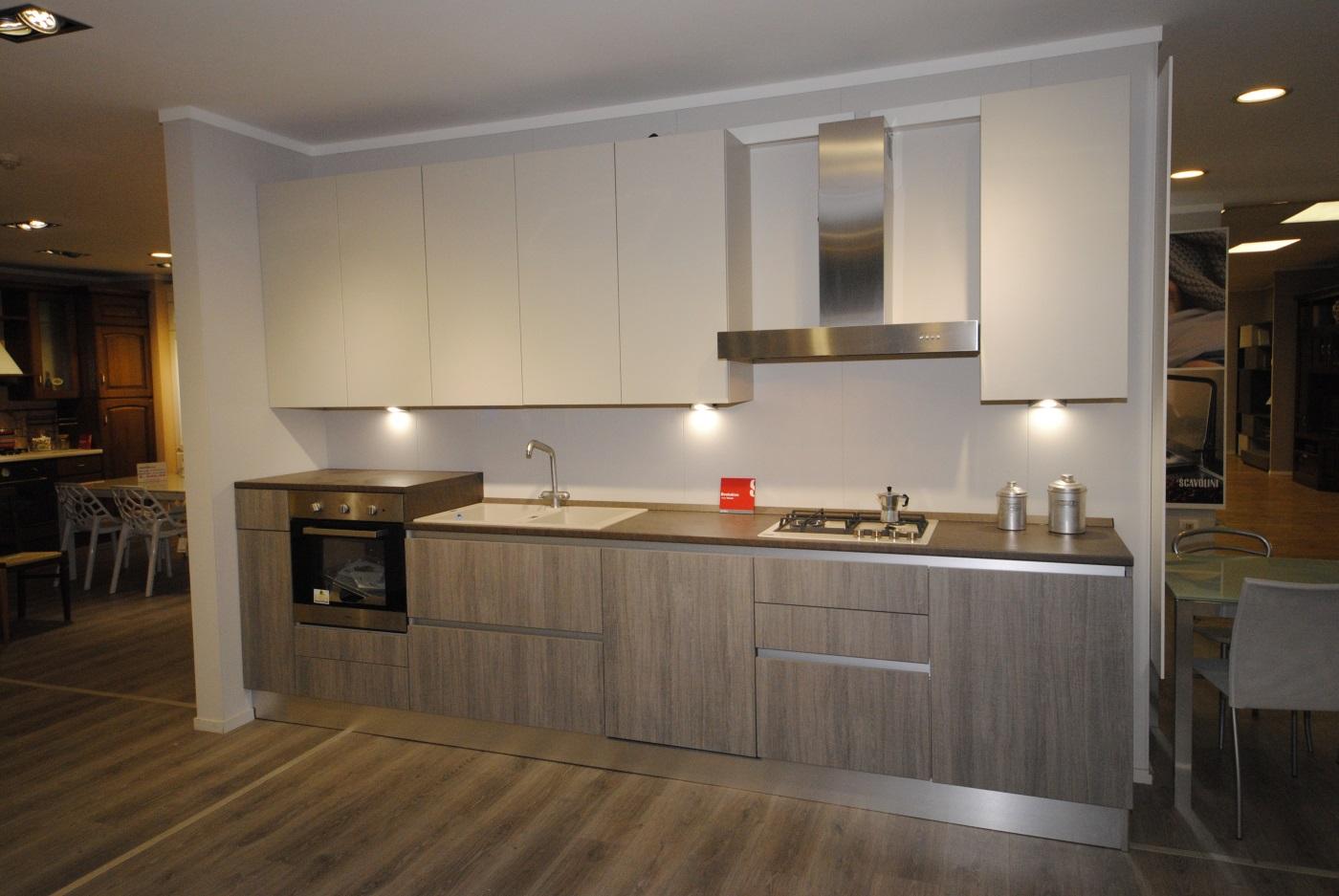 Offerta cucina Scavolini Basic modello Evolution decorativo e laccato opaco  San Gaetano