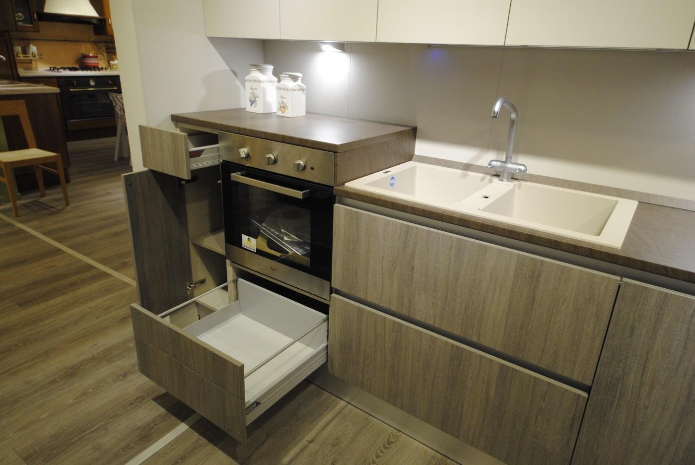 Offerta cucina Scavolini Basic modello Evolution decorativo e laccato opaco  San Gaetano Arredamenti
