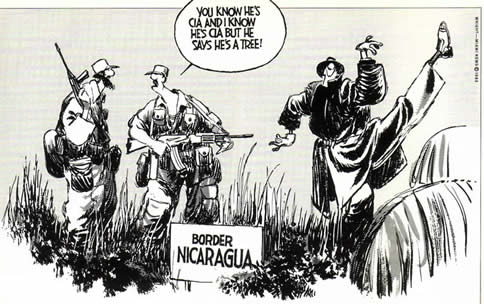 Don Wright cartoon on CIA activities 1983