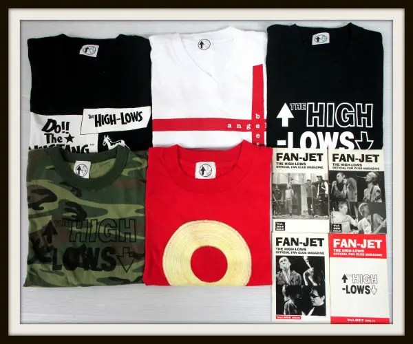 HIGH-LOWS ハイロウズ Tシャツ 5枚+会報4冊