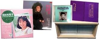 昭和スターのCDがが並んだ画像
