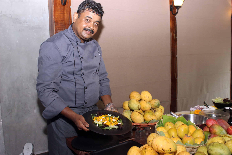 Executive Chef Mohammad feroz Hussain present during the Mango Food festival at afra Tafri