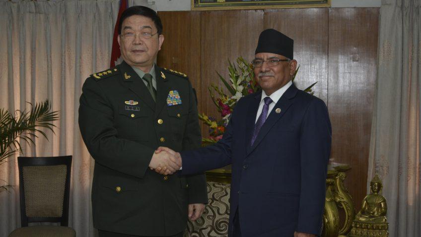 प्रधानमन्त्री र चीनका रक्षामन्त्री बीच भेटबार्ता एक चीन नीतिप्रति नेपालको दृढ समर्थन व्यक्त