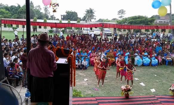 सर्लाहिका स्कुलिय वालवालिका लाई नेपाली सेनाको राष्ट्रिय सेवादलको तालिम उद्घाटन तीन विधालयको १०८ जना विधार्थी सहभागी