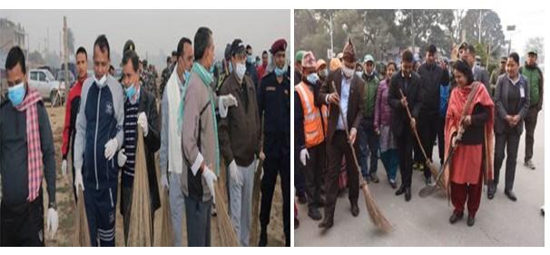 मन्त्री महासेठ काठमाडौँलाइ धुलोमुक्त बनाउदै, प्रदेश २ का मुख्यमन्त्री राउत जनकपुर टल्काउदै