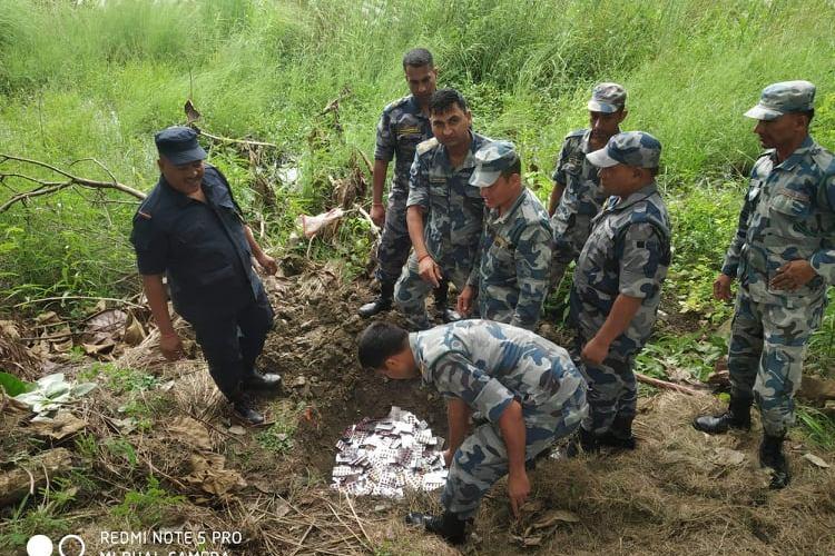 सशस्त्र प्रहरी बल कृष्णनगरद्वारा लाखौ मूल्यको अबैध औषधी नष्ट