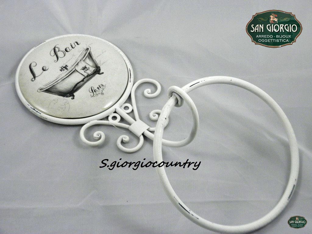 Porta asciugamano da muro con anello le bain paris f0897 for Accessori bagno le bain
