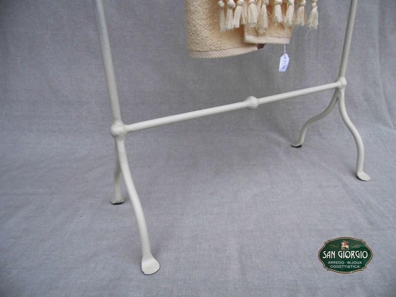 Porta Asciugamani Bagno Shabby : Porta asciugamano tre posti grande bianco san giorgio