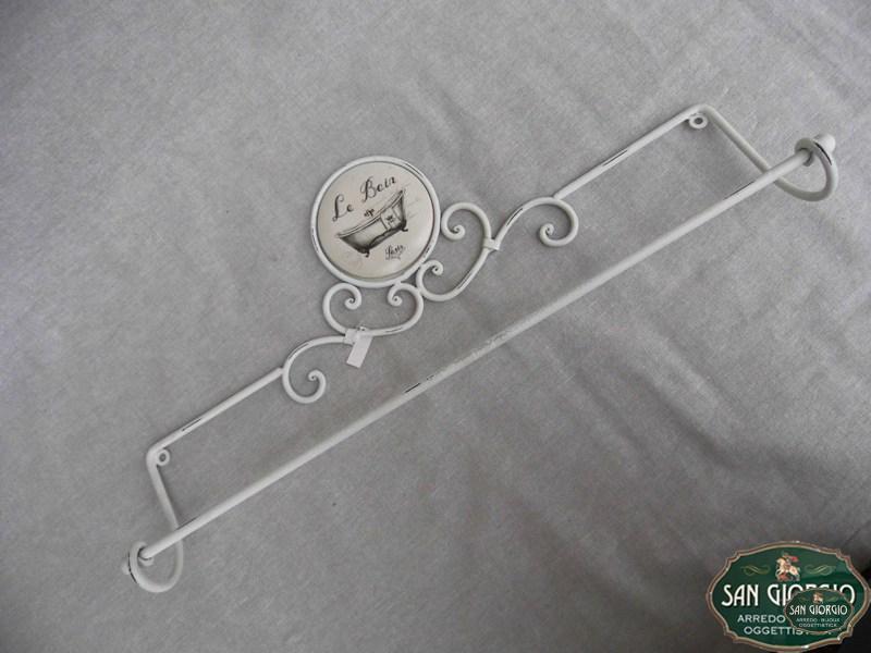 Porta asciugamano in ferro da muro f0904 san giorgio - Porta asciugamano bagno ...