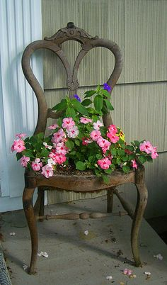 fiori,vasi,shabby,arredo shabby,giardinaggio,tazze,catino,colapasta,sedia