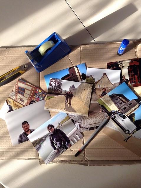 materiale necessario per creare un cuore con le foto