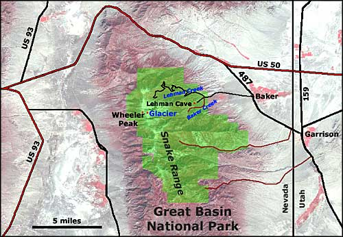 Great Basin Highway Map