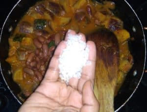 Brinjal rajma gravy salt